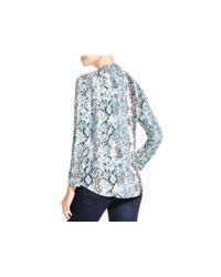 Soft Joie - Gray Dane Snakeskin Print Shirt - Lyst