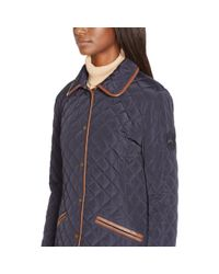 Ralph Lauren | Blue Faux Leather–trim Jacket | Lyst