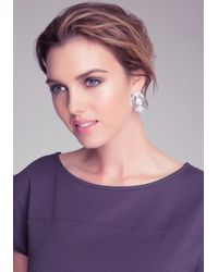 Bebe - Metallic Deco Crystal Stud Earrings - Lyst