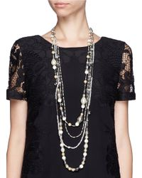 Erickson Beamon | Metallic 'weeping Angel' Multi Strand Faux Pearl Necklace | Lyst