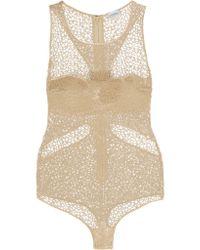 La Perla - Brown - Macramé Lace Bodysuit - Ecru - Lyst