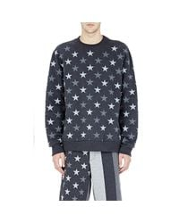 Givenchy | Blue Men's Signature Star Cuban Sweatshirt for Men | Lyst