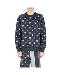 Givenchy - Blue Men's Signature Star Cuban Sweatshirt for Men - Lyst