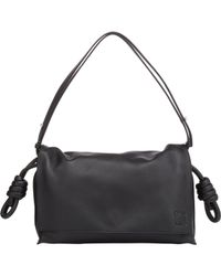Loewe | Black Flamenco Flap Leather Shoulder Bag | Lyst