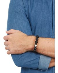 Nialaya | Black Matte Onyx Bracelet for Men | Lyst