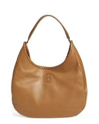 Tory Burch | Brown 'marion' Hobo | Lyst