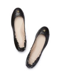 Tory Burch | Black York Leather Ballet Flats | Lyst