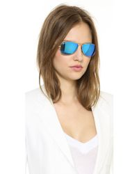 Ray-Ban - Metallic Mirrored Shrunken Aviator Sunglasses - Lyst