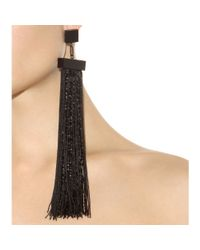 Tom Ford | Black Fringed Earrings | Lyst