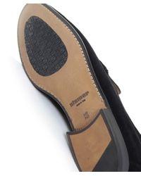 Stemar | Black Sorrento Suede Penny Loafers for Men | Lyst