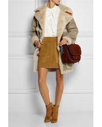 COACH - Brown Suede Mini Skirt - Lyst