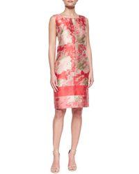Lafayette 148 New York | Metallic Pammie Floral Sheath Dress | Lyst