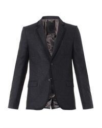Gucci - Gray Wool-Flannel Single-Breasted Blazer for Men - Lyst