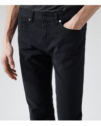 Reiss - Blue Montreal Slim Fit Twill Jeans for Men - Lyst