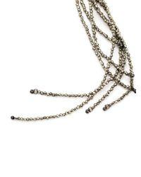 Brunello Cucinelli | Metallic Beaded Lariat Necklace | Lyst