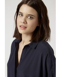 TOPSHOP - Blue Self-Tie Shirt Dress - Lyst