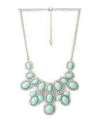 Forever 21 - Green Sparkling Statement Necklace - Lyst