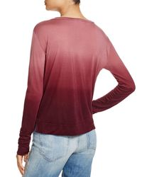 LNA | Red Ombre Tee | Lyst