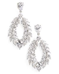 Nadri | Metallic 'josephine' Cubic Zirconia Drop Earrings | Lyst