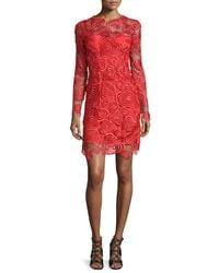 Christopher Kane - Embroidered Illusion Mini Dress  - Lyst