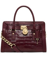 Michael Kors | Purple Michael Hamilton Frame Out East West Satchel | Lyst