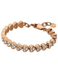 Dyrberg/Kern | Pink Dyrberg/kern Muamor Heart Swarovski Crystal Bracelet | Lyst