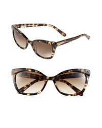 Kate Spade | Brown 'amaras' 55mm Sunglasses | Lyst