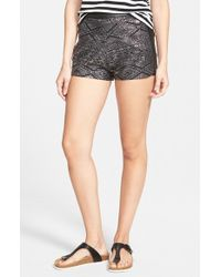 Volcom - Black 'stone Wild' Embellished Shorts - Lyst