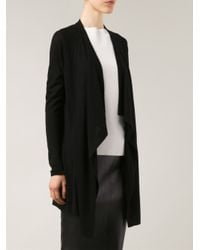 Vince - Black Draped Front Cardigan - Lyst