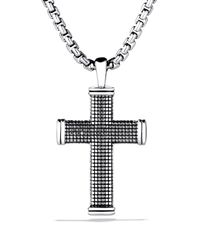 David Yurman | Metallic Sky Small Cross On Chain for Men | Lyst