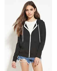 Forever 21 | Black Classic Zip-up Hoodie | Lyst