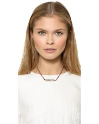Venessa Arizaga - Purple Highway Necklace - Carmine - Lyst