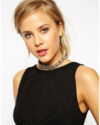ASOS | Brown Oversized Agate Stone Choker Necklace | Lyst