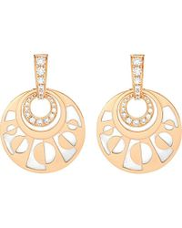 BVLGARI | Metallic Intarsio Mediterranean Eden 18ct Pink-gold Pearl And Diamond Earring | Lyst