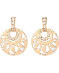 BVLGARI | Metallic Intarsio Mediterranean Eden 18ct Pink-gold Pearl And Diamond Earring | Lyst