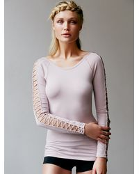 Free People | Pink Rama Layering Top | Lyst