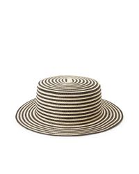 Forever 21 - Brown Striped Straw Boater Hat - Lyst