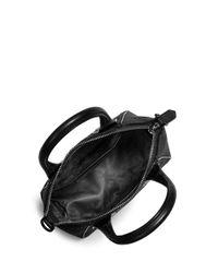 MICHAEL Michael Kors | Black Campbell Small Leather Satchel | Lyst