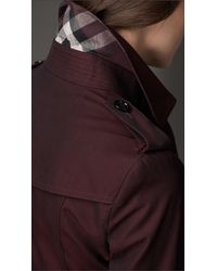 Burberry - Red Equestrian Detail Cotton Gabardine Trench Coat - Lyst