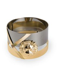 Versus | Metallic Engraved Lion Bracelet | Lyst