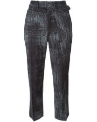 A.F.Vandevorst - Black Cropped Trousers - Lyst