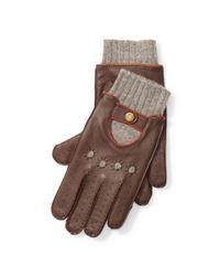 Polo Ralph Lauren - Brown Deerskin Driving Gloves for Men - Lyst