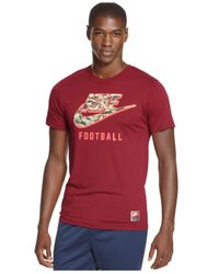Nike | Red Woodland Camo-printed Swoosh T-shirt for Men | Lyst