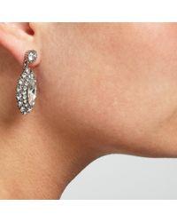 John Lewis | Metallic Glass Crystal Statement Leaf Drop Earrings | Lyst