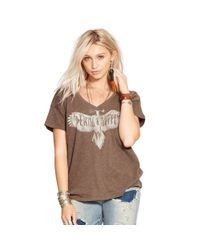 Denim & Supply Ralph Lauren - Brown Boyfriend-fit V-neck Tee - Lyst