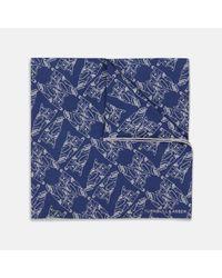 Turnbull & Asser - Thunderbirds Four Blue Silk Pocket Square for Men - Lyst