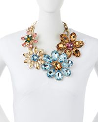 Dolce & Gabbana - Multicolor Mega Flower Jewel Necklace - Multi Colors (One Size) - Lyst