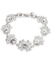 Givenchy | Metallic Silver-tone Crystal Statement Flex Bracelet | Lyst