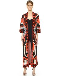 Temperley London | Red Long Brooke Cardigan | Lyst