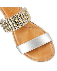 Lotus - Metallic Cosima Open Toe Sandals - Lyst